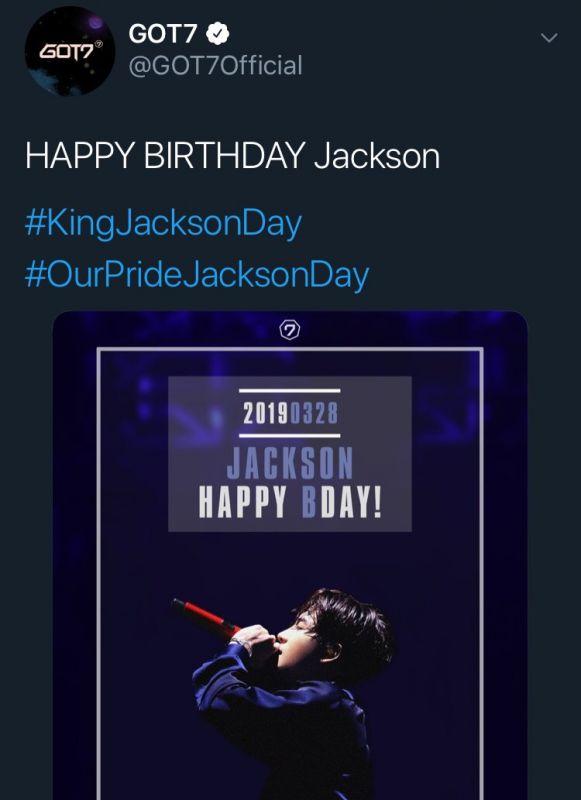 แจ็คสัน GOT7 วันเกิด ครบรอบ