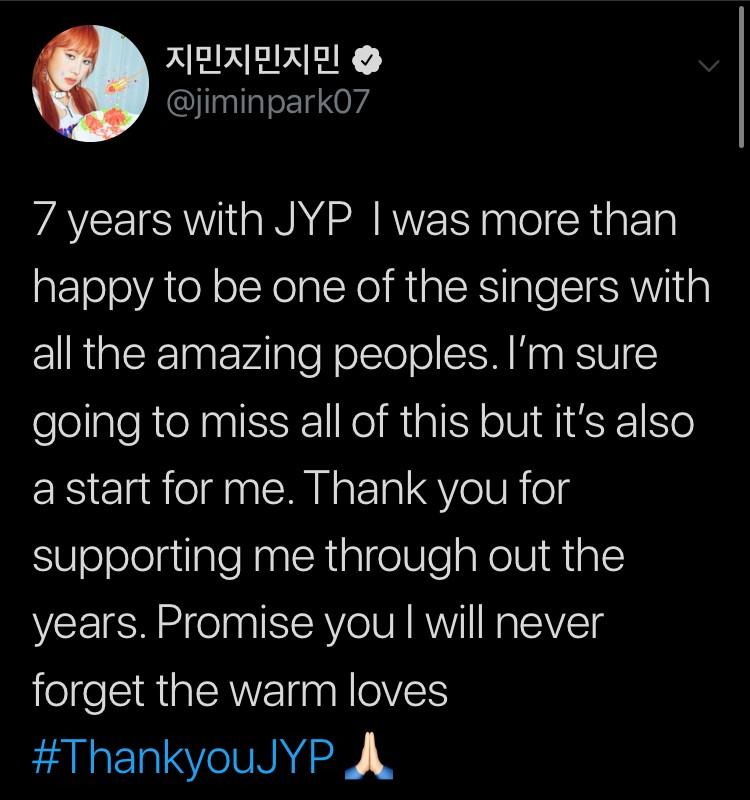 jimin ออก jyp kpop idol