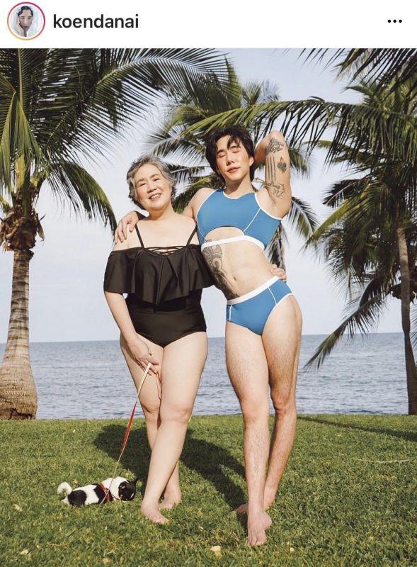 เขื่อน ภัทรดนัย คุณแม่ ถ่ายแบบ ชุดว่ายน้ำ