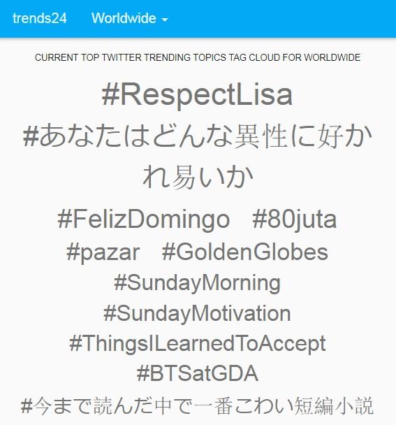 Lisa BLACKPINK#RespectLisa twitter ลิซ่า