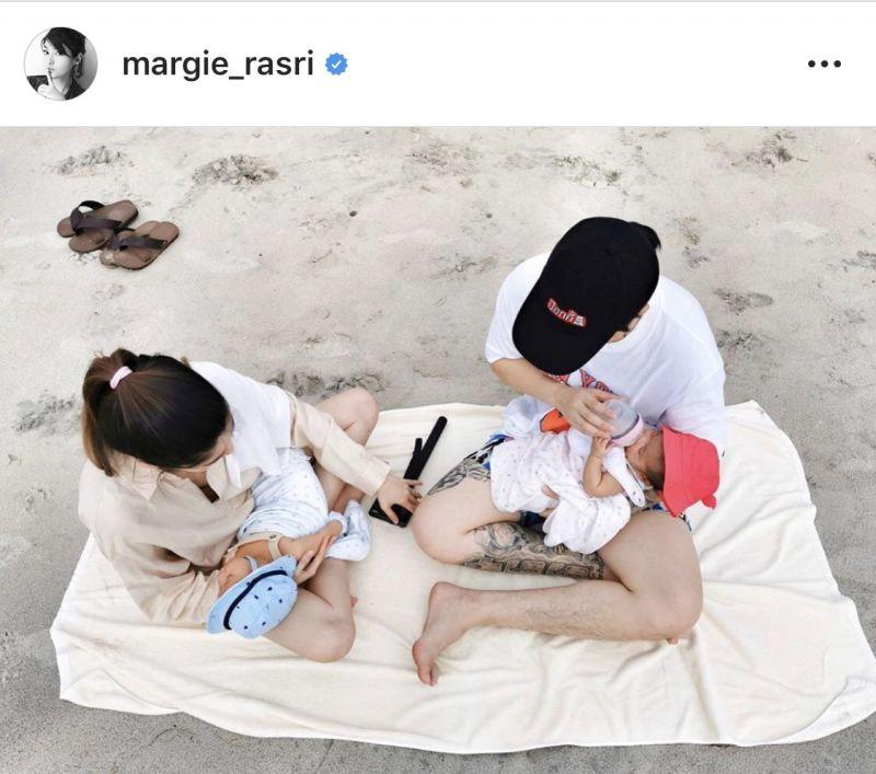 มาร์กี้ น้องมีก้า น้องมีญ่า หลังคลอด พัฒนาการ