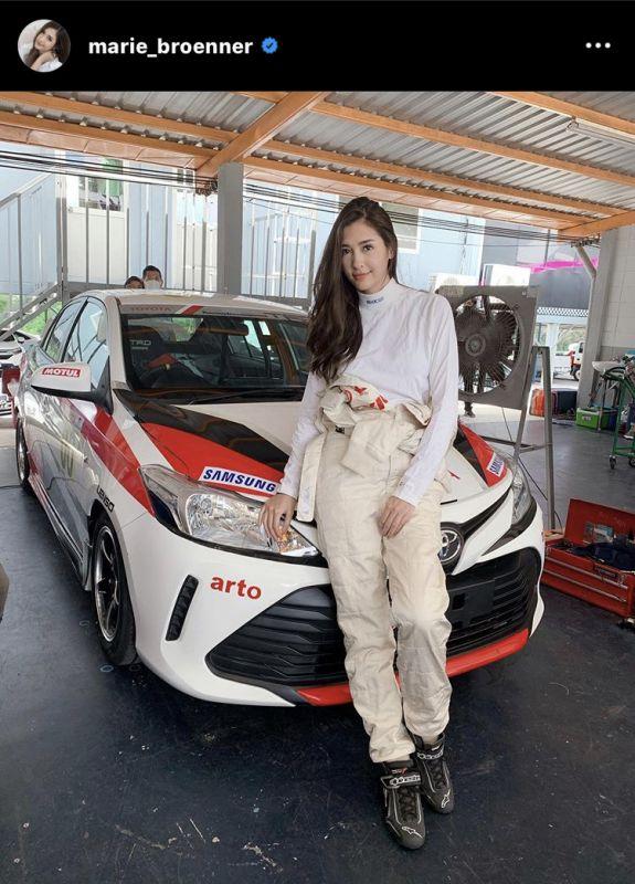 มารี เบรินเนอร์ นักแสดง โสด ความรัก นักแข่งรถ
