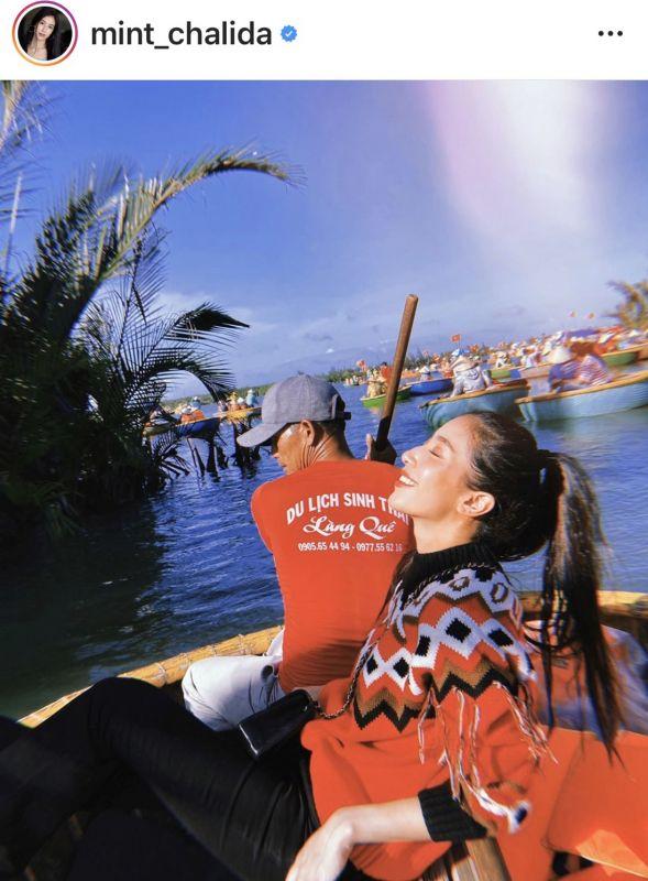 มิ้นต์ ชาลิดา เที่ยว ประเทศ เวียดนาม ทริป ปีใหม่