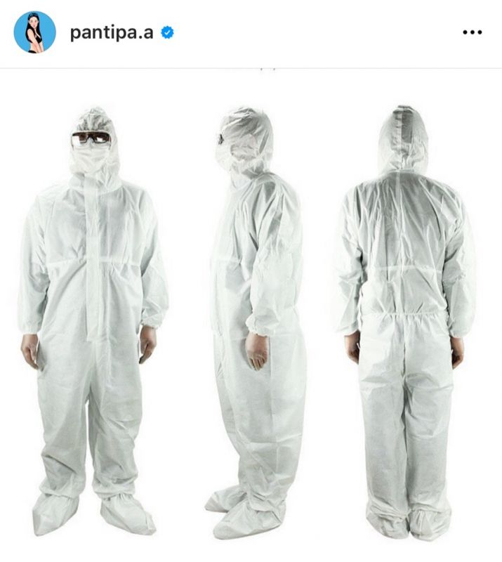 ปุ้มปุ้ย พรรณทิพา ชุด PPE บุคลากรทางการแพทย์