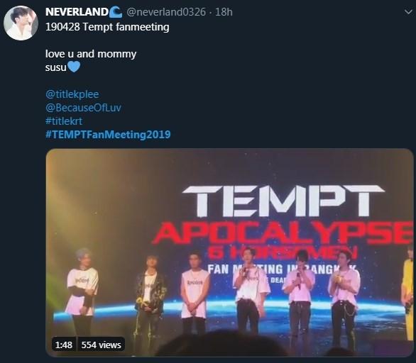 TEMPT #TEMPTFanMeeting2019 เพิร์ธ มีน บังเอิญรัก