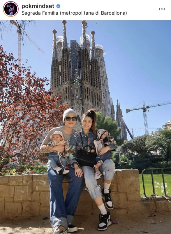 ป๊อก มาร์กี้ เที่ยว สเปน ม๊อบประท้วง น้องมีก้า น้องมีญ่า