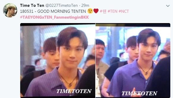 Taeyong เตนล์ NCT มีตติ้ง TAEYONG x TEN FAN MEETING in BANGKOK