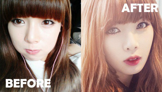 ไอดอลเกาหลี เปลี่ยนลุค ดาราใส่คอนแทกต์ คอนแทกต์เลนส์ ไอดอลเกาหลีใส่คอนแทกต์ นักร้อง นักแสดง
